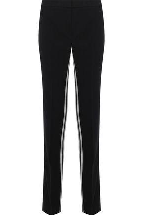 ELIE TAHARI Striped crepe straight-leg pants