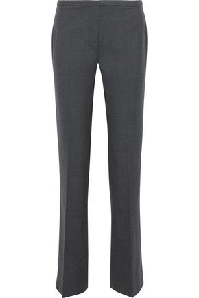 ELIE TAHARI Stretch wool-twill straight-leg pants