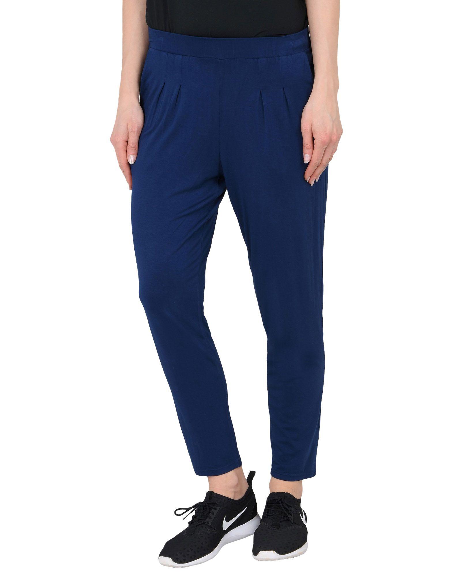 《セール開催中》DEHA レディース パンツ ダークブルー XS レーヨン 90% / ポリウレタン 10% VISCOSE PANTS