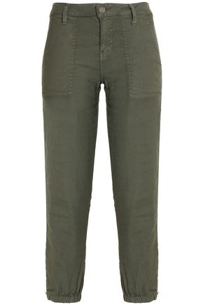 JOIE Cropped twill tapered pants