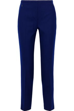 ELIE TAHARI Stretch wool-twill slim-leg pants