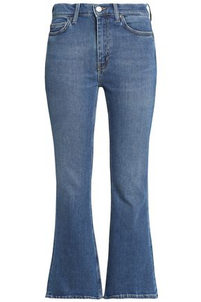 M.I.H JEANS Cropped high-rise flared jeans