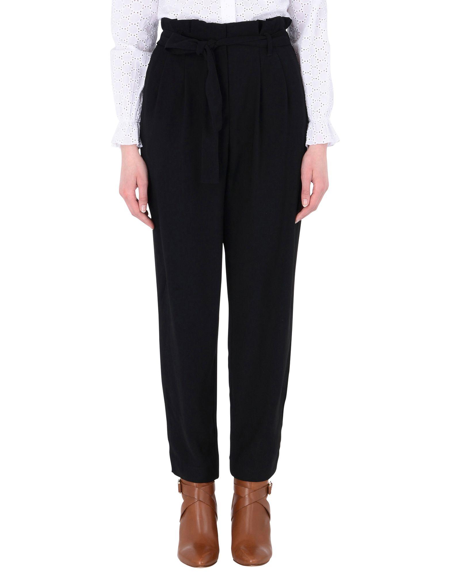 《送料無料》MOSS COPENHAGEN レディース パンツ ブラック XS ポリエステル 98% / ポリウレタン 2% Ziri More Pant