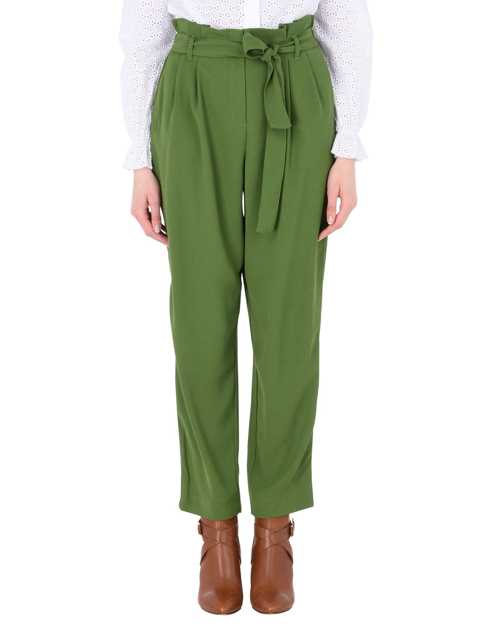 《セール開催中》MOSS COPENHAGEN レディース パンツ グリーン XS ポリエステル 98% / ポリウレタン 2% Ziri More Pant
