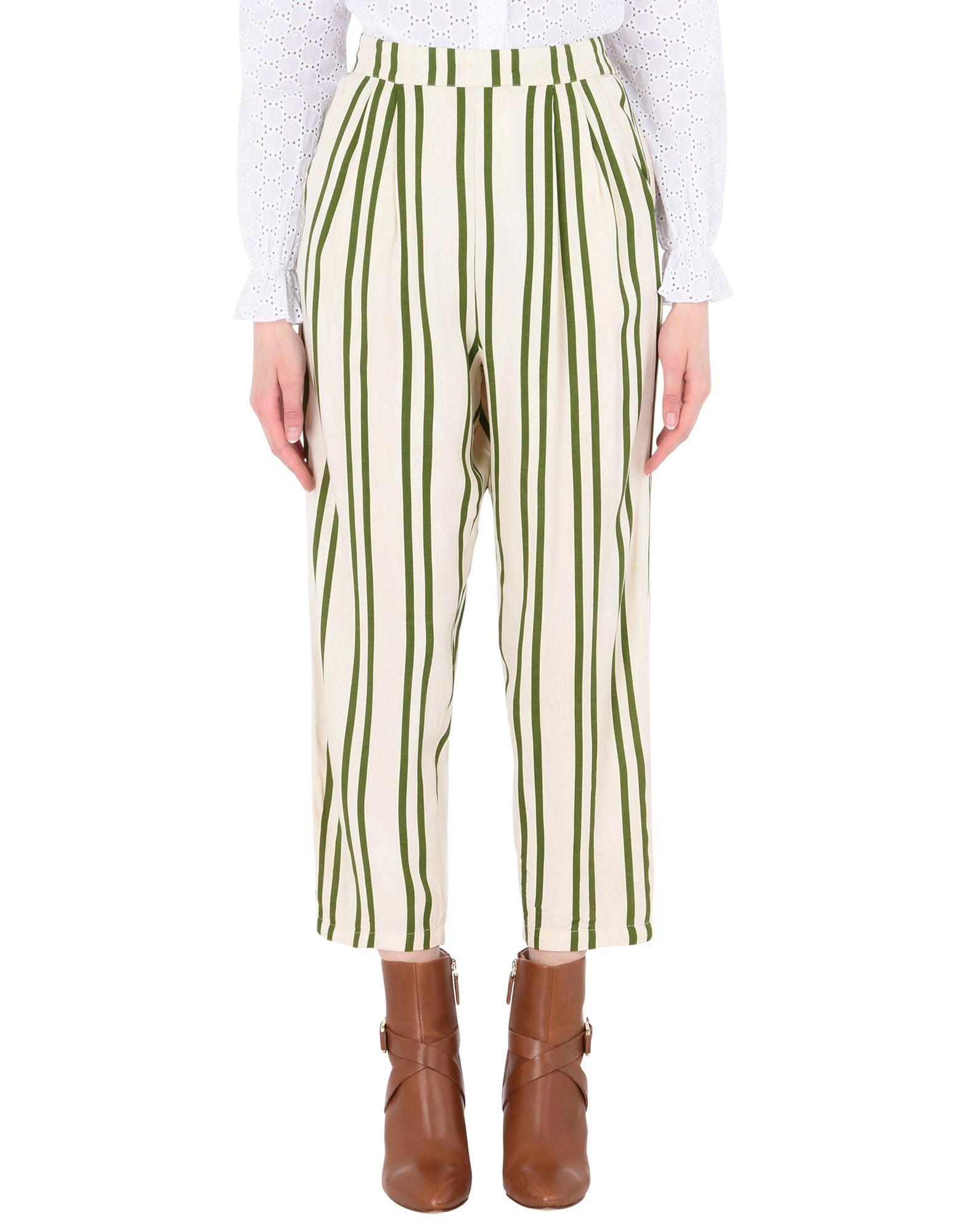 《送料無料》MOSS COPENHAGEN レディース パンツ アイボリー XS レーヨン 100% Tracy Jio Pants