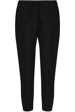 ZOE KARSSEN Metallic fil coupé jersey track pants