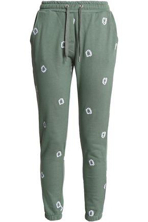 ZOE KARSSEN Embroidered cotton-jersey track pants