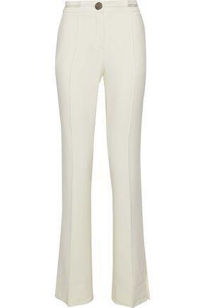 ALEXANDER WANG Satin-trimmed crepe straight-leg pants