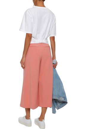 ALEXANDER WANG Pleated twill culottes