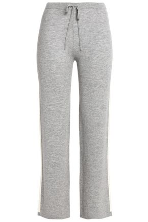 MADELEINE THOMPSON Mélange wool and cashmere-blend track pants