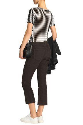 CURRENT/ELLIOTT The Kick Jean cotton-blend corduroy kick-flare pants