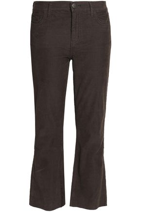 CURRENT/ELLIOTT The Kick Jean cotton-blend corduroy kick-flare pants