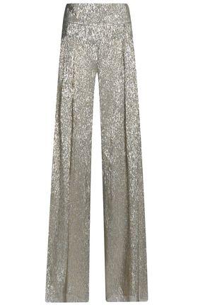 Oscar De La Renta Woman Silk-blend Lamé Blouse Gold Size 12 Oscar De La Renta Discount Amazing Price Discount Sneakernews vXHBr0