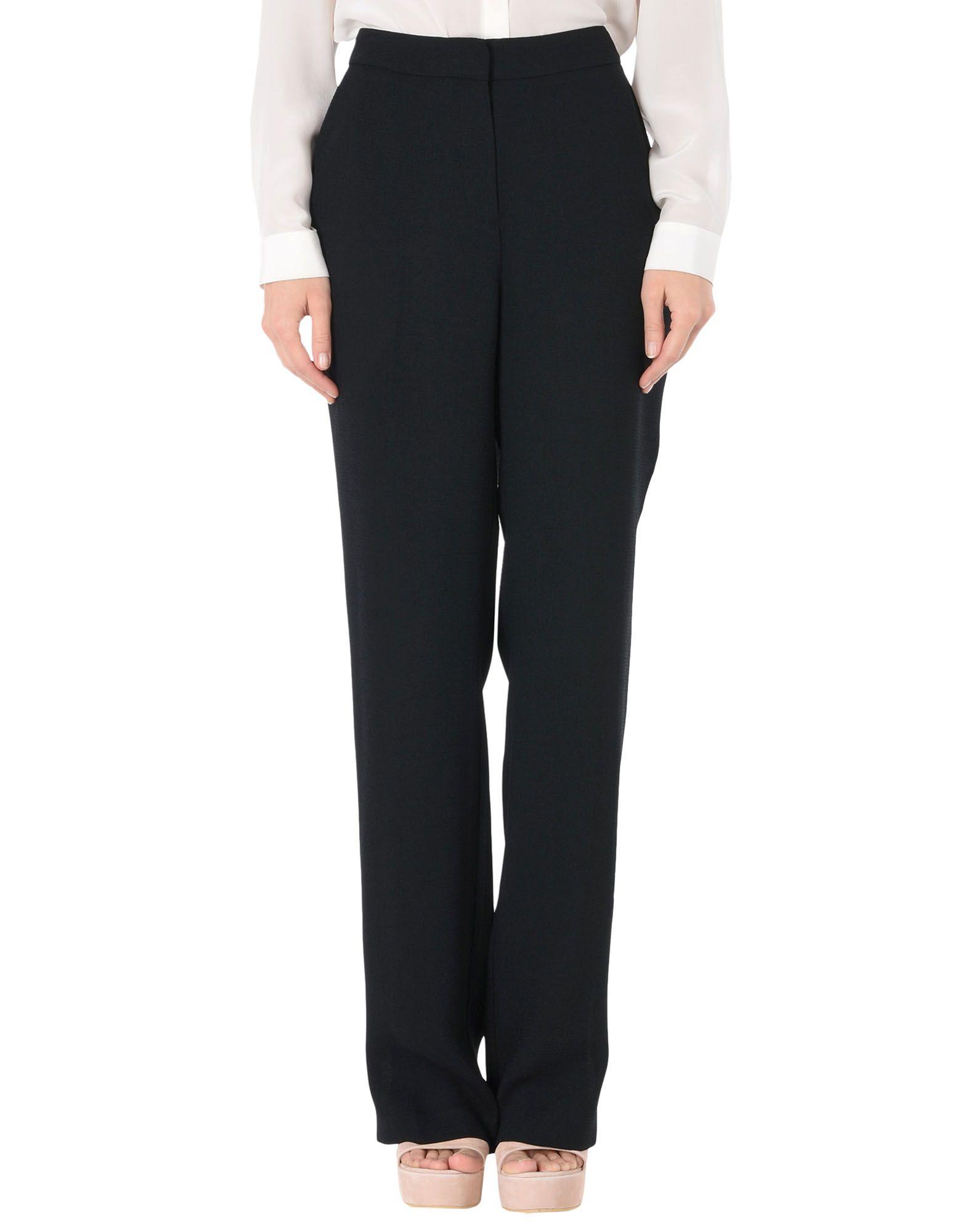 《セール開催中》ESSENTIEL ANTWERP レディース パンツ ブラック 34 ポリエステル 100% Photoshop straight leg pants