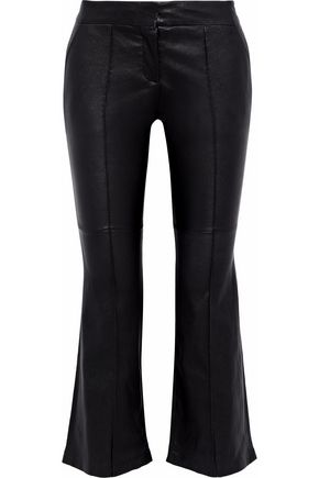 A.L.C. Leather kick-flare pants