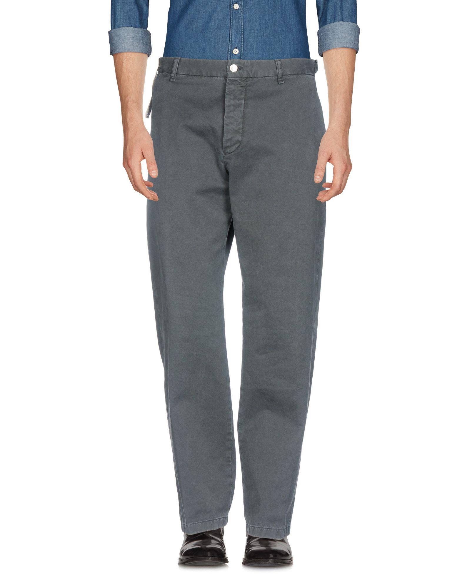 《送料無料》AVIO メンズ パンツ 鉛色 52 コットン 100%