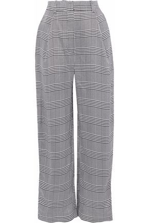 CARMEN MARCH Houndstooth woven wide-leg pants