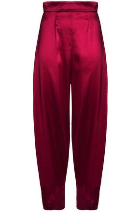 ROKSANDA Crinkled silk-satin tapered pants