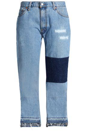 NILI LOTAN Franki appliquéd distressed boyfriend jeans