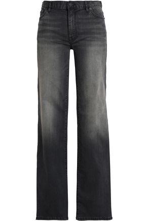 NILI LOTAN Ena button-detailed mid-rise bootcut jeans