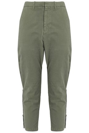 NILI LOTAN Jackson cropped cotton-blend twill tapered pants