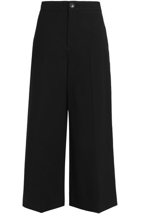 JOSEPH Wool-blend twill wide-leg pants