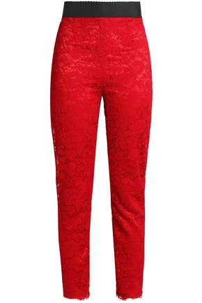DOLCE & GABBANA Corded lace skinny pants