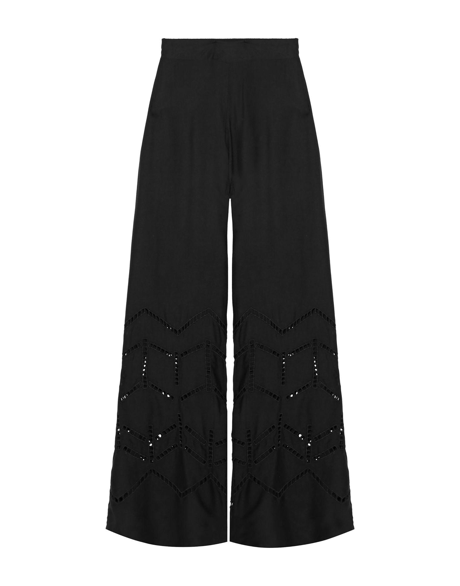 《セール開催中》VIX PAULA HERMANNY レディース パンツ ブラック S レーヨン 100%