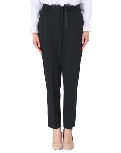 THE KOOPLES レディース パンツ ブラック 34 ウール 98% / ポリウレタン 2% TUXEDO STRETCH TROUSERS WITH SATIN AND LACE DETAILS