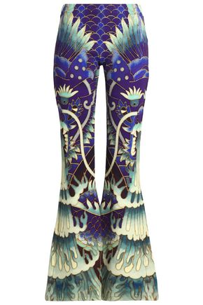 CAMILLA Printed stretch-jersey flared pants