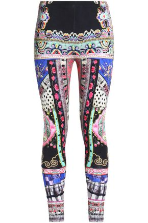 CAMILLA Printed stretch-modal jersey leggings