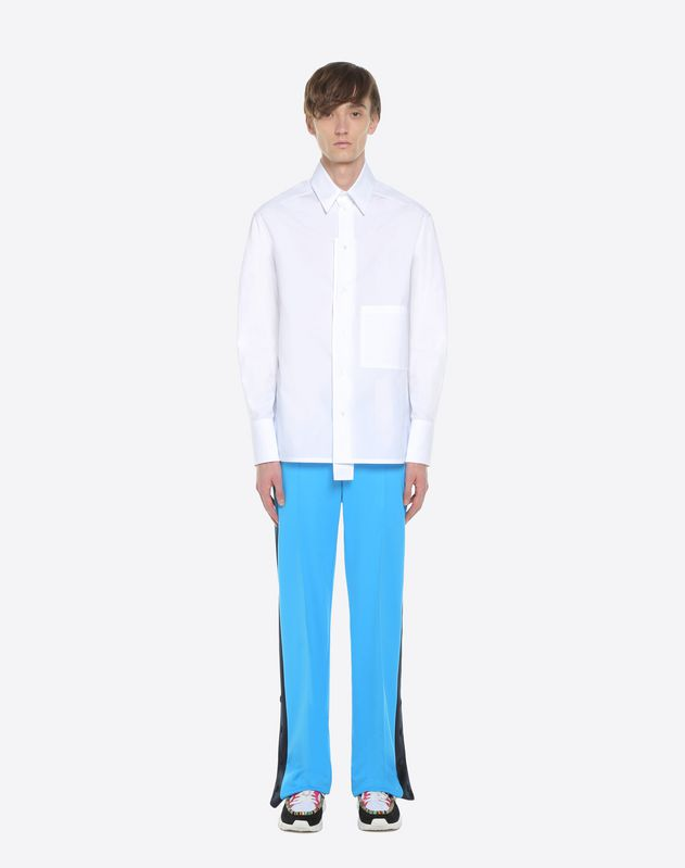 Trousers with contrasting bands