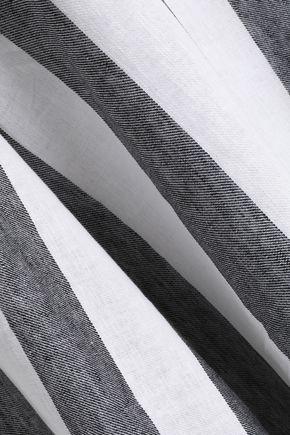 PAPER London Striped linen flared pants