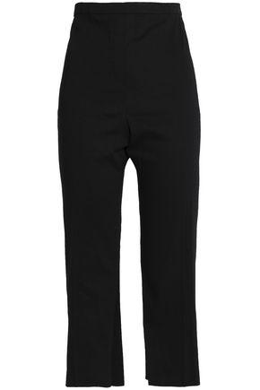 ELIE TAHARI Cropped linen-blend straight-leg pants