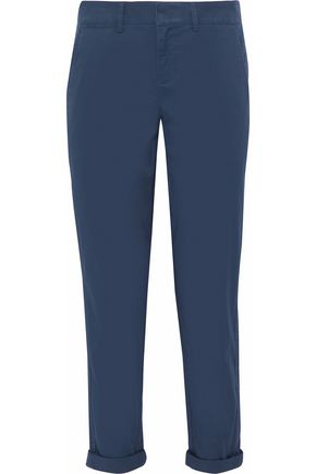 VINCE. Cropped cotton-blend canvas tapered pants