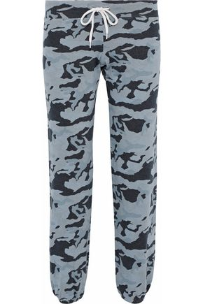 MONROW Printed French terry track pants