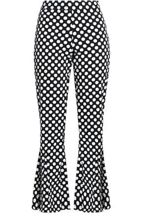 W118 by WALTER BAKER Emma polka-dot crepe kick-flare pants