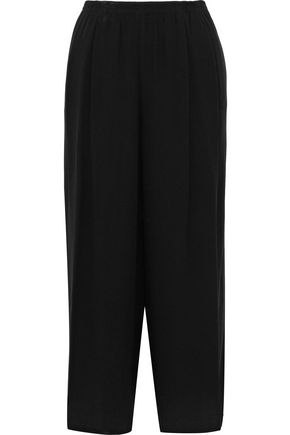 VINCE. Pleated crepe wide-leg pants
