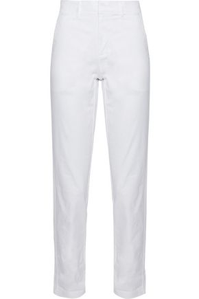 VINCE. Stretch cotton-poplin tapered pants