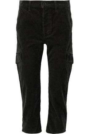 VINCE. Cropped cotton-corduroy straight-leg pants