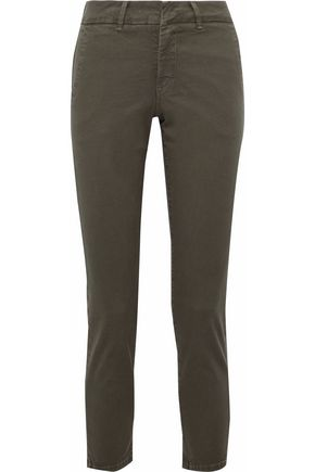 VINCE. Stretch-cotton twill slim-leg pants