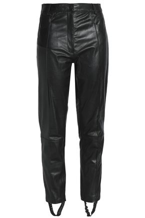 MAGDA BUTRYM Leather slim-leg stirrup pants