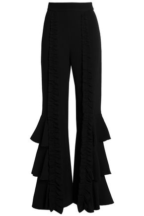 ALEXIS Carine ruffled crepe flared pants