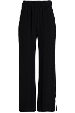 ALEXIS Noeline washed-crepe straight-leg pants