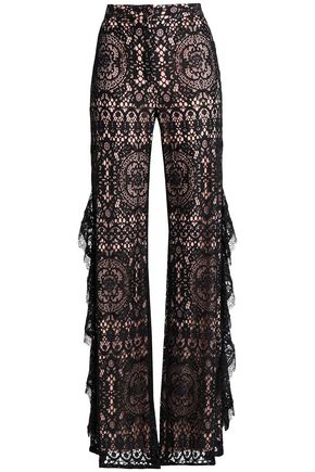 ALEXIS Ruffled lace flared pants