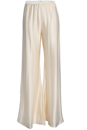 ALEXIS Satin-jacquard wide-leg pants