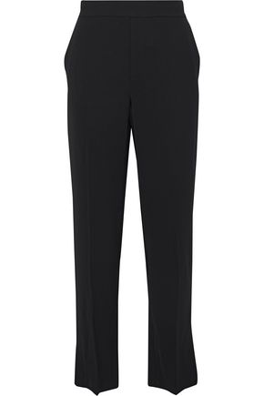 VINCE. Crepe de chine straight-leg pants