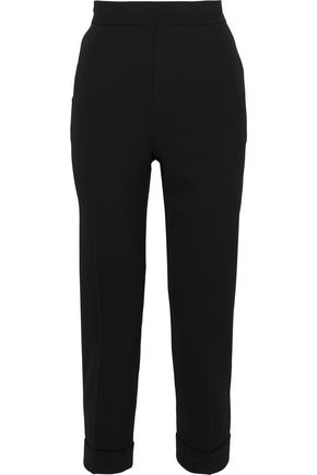 VINCE. Cropped pleated crepe tapered pants