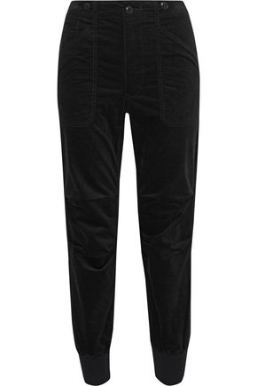 VINCE. Stretch-cotton corduroy track pants