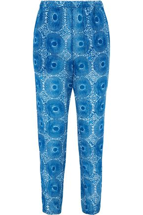 LEMLEM Makena printed cotton tapered pants